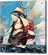 The Santa Maria Acrylic Print by James Edwin McConnell