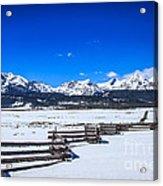 The Sawtooth Mountains Acrylic Print