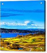 The Scenic Chambers Bay Golf Course Iv - Location Of The 2015 U.s. Open Tournament Acrylic Print by David Patterson