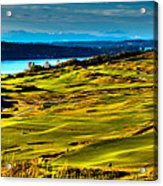 The Scenic Chambers Bay Golf Course - Location Of The 2015 U.s. Open Tournament Acrylic Print by David Patterson