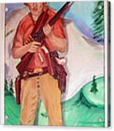 The Scout Portrait Of The Artist At Age 24 Acrylic Print