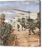 The Screaming Eagles In Vietnam Acrylic Print by Bob  George