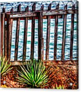 The Sea Fence Siesta Key Fla. Acrylic Print