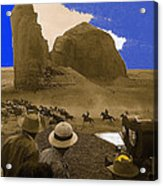 The Searchers   Cast And Crew Monument Valley Arizona 1956 Acrylic Print