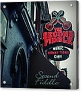 The Second Fiddle Acrylic Print