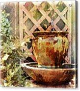 The Secret Fountain Acrylic Print