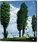 The Seeds Acrylic Print by Stephane Poulin