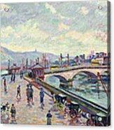 The Seine At Rouen Acrylic Print