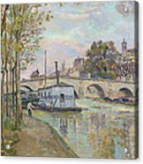 The Seine In Paris  Acrylic Print
