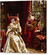 The Serenade Acrylic Print by Joseph Frederick Charles Soulacroix