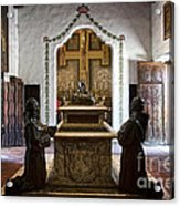 The Serra Cenotaph In Carmel Mission Acrylic Print