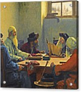The Seven Rabbis In Jerusalem Acrylic Print