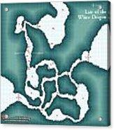 The Shadowed Keep White Dragon Lair Acrylic Print