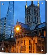 The Shard And Southwark Cathedral Acrylic Print