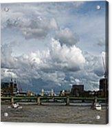 The Shard And The Thames At Southwark Acrylic Print