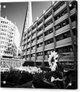 the shard building towering over melior street community garden London England UK Acrylic Print