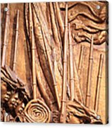 Saint Gaudens -- The Shaw Memorial's Left Side Acrylic Print