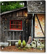 The Shed At Monches Farm Acrylic Print by Mary Machare