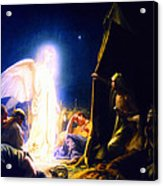 The Shepherds And The Angel Acrylic Print