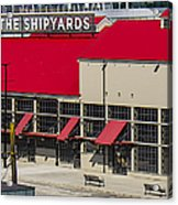 The Shipyards In Vancouver Acrylic Print
