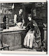 The Shopkeeper, Percy Macquoid, 1852-1925 Acrylic Print