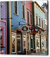 The Shops In Crested Butte Acrylic Print
