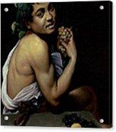 The Sick Bacchus, 1591  Acrylic Print