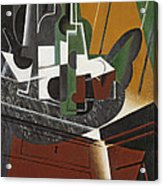 The Sideboard, 1917 Oil On Plywood Acrylic Print