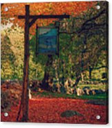 The Sign Of Fall Colors Acrylic Print