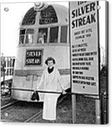 The Silver Streak Train Acrylic Print