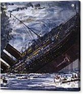 The Sinking Of The Titanic Acrylic Print