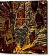The Siq Path Slot Canyon  Acrylic Print