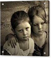 The Sisters Acrylic Print by Julie Dant