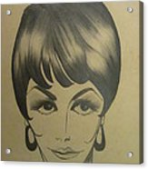 The Sixties And Fashion Hair Acrylic Print