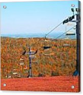 The Skiing Fields In Autumn Acrylic Print
