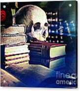 The Skull The Spell Book And The Rose Acrylic Print