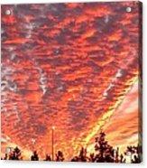 The Sky Is On Fire Acrylic Print