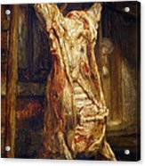 The Slaughtered Ox Acrylic Print by Rembrandt Harmenszoon van Rijn
