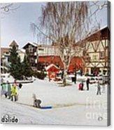 The Sledding Hill Acrylic Print