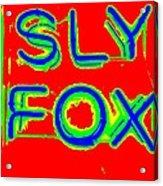 The Sly Fox Acrylic Print