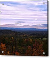 The Smokey Mountains From Hanging Rock State Park Acrylic Print