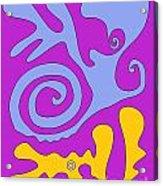 The Snail Adn The Lizard Acrylic Print
