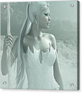The Snow Queen Acrylic Print by Melissa Krauss