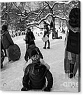 The Snowboarders Acrylic Print