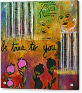 The Song Of My Own Belief Acrylic Print
