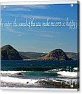 The Sound Of The Sea Acrylic Print