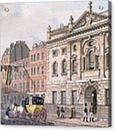 The South Front Of Ironmongers Hall, From R. Ackermanns Repository Of Arts 1811 Colour Litho Acrylic Print