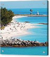 The Southernmost Non-free Beach Acrylic Print