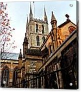The Southwark Cathedral Church London In Winter Acrylic Print