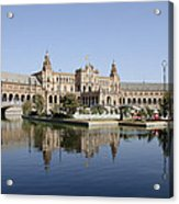 The Spanish Square In Seville Acrylic Print